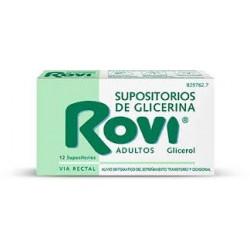 SUPOSITORIOS GLICERINA ROVI ADULTOS 12 U CN829762.7