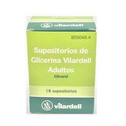 SUPOSITORIOS GLICERINA VILARDELL ADULTOS CN 855049.4
