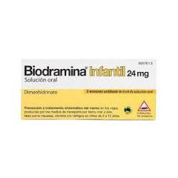Biodramina Infantil  24 mg sol oral 5 unidosisSIS