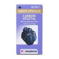 Arkocapsulas Carbon Vegetal 225 Mg 50 capsulas.