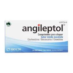 Angileptol 30 comprimidos para chupar sabor menta-eucalipto