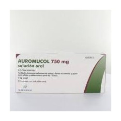 Auromucol (750 Mg 12 sobres solucion oral 15 ML)