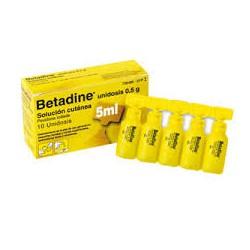 Betadine (10 % solucion topica 10 unidosis 5 ml)
