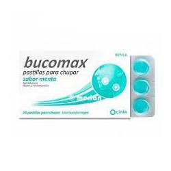 Bucomax 24 pastillas para chupar sabor menta