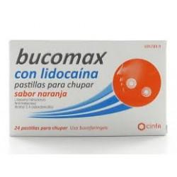 Bucomax lidocaina (8 pastillas para chupar naranja)
