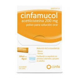 Cinfamucol Acetilcisteina 200 mg Polvo 20 sobres  solucion oral
