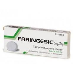 Faringesic 5 mg/5 mg Comprimidos para chupar sabor menta