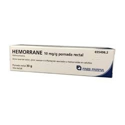 Hemorrane 10 mg/g Pomada Rectal