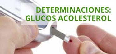 Determinaciones:glucosa ,colesterol.
