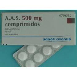 AAS 500 MG 20 COMPRIMIDOS Cn672905.2