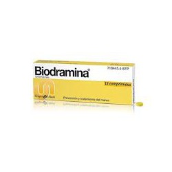 BIODRAMINA 50 mg12 COMPRIMIDOS CN718445.4