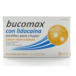 Bucomax Lidocaina (24 pastillas para chupar miel y limon)